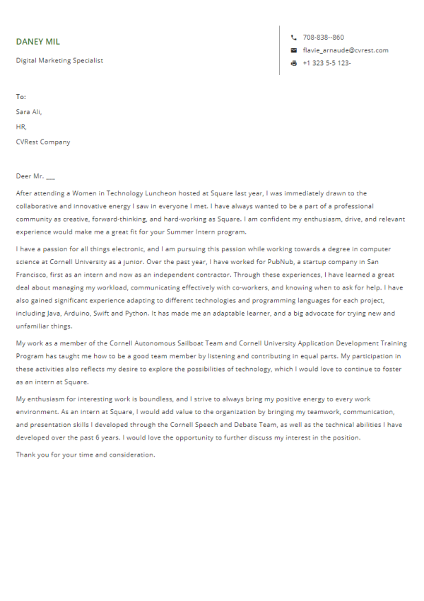 Free Professional Cover Letter Template 9