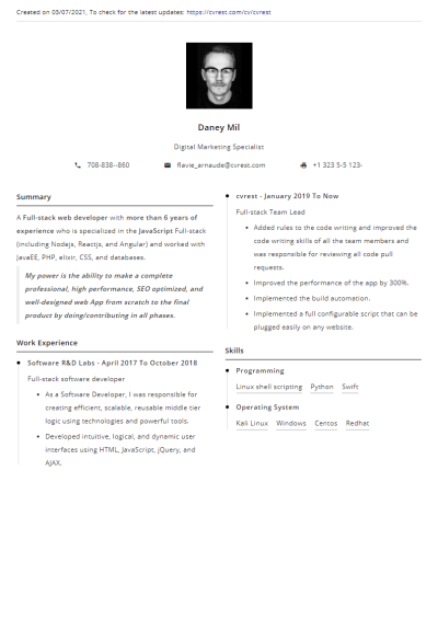Free Resume Template 3